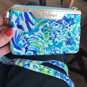 Lilly Pulitzer Neck Strap, Card and Coin Pouch